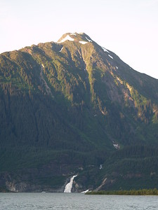 Taken across from the west side of Mendenhall Lake with Nugget Falls in the distance.