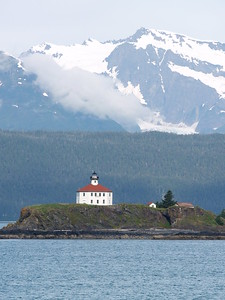 Eldred Lighthouse is one of the most photographed lighthouses on the Inside Passage. It is in Lynn Canal (2006).