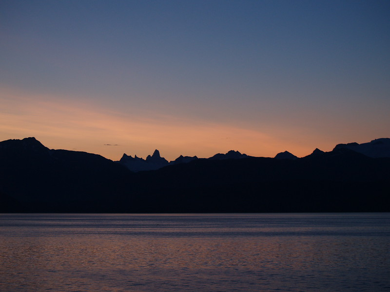 We pulled into Petersburg at 3:45am. This is the sunrise just before we docked. It was stunning. (2009)