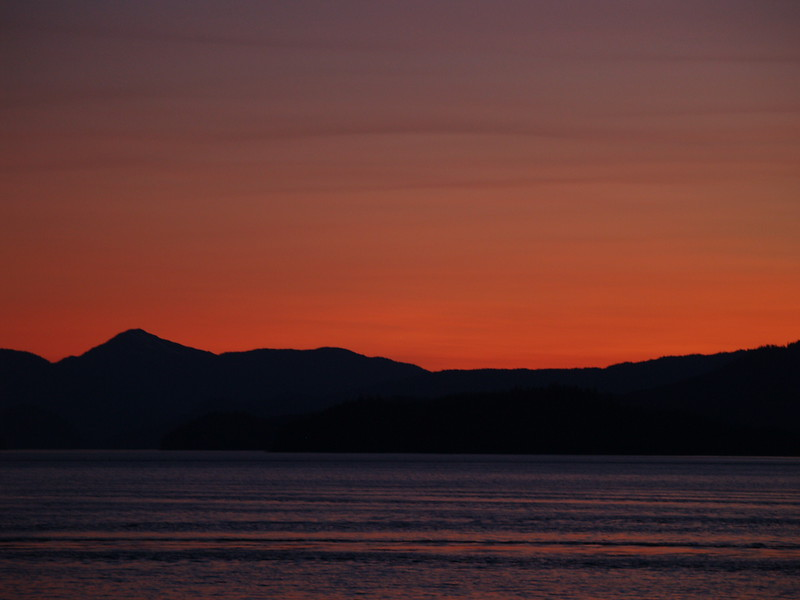 Wrangell sunset at around 10pm (2009).