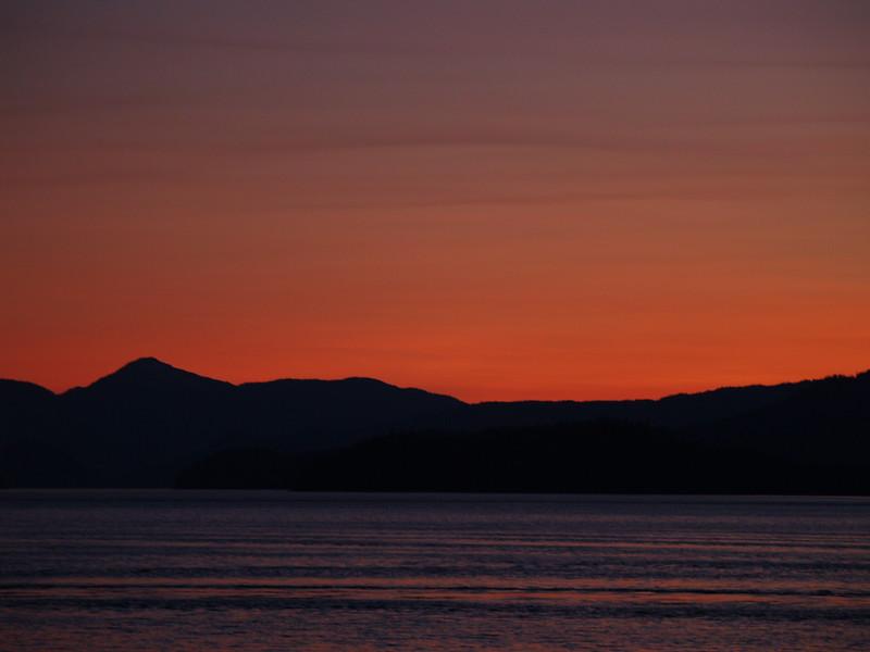 Wrangell sunset at around 10pm (2009).
