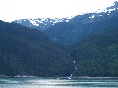 waterfall along Lynn Canal on the way from Skagway and Haines back to Auke Bay/Juneau (2006)