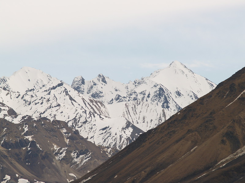The peaks in Polychrome Pass.