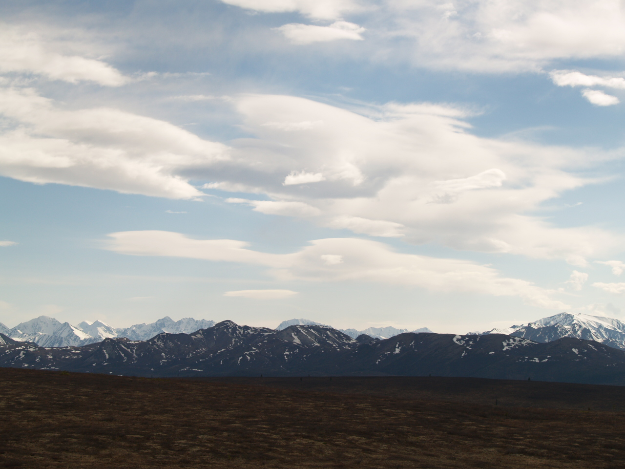 Afternoon view across the mountains in Denali - The Mountain is just to the right edge of photograph (2007).