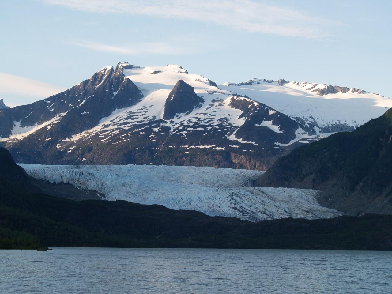 Mendenhall Glacier from across Mendenhall Lake