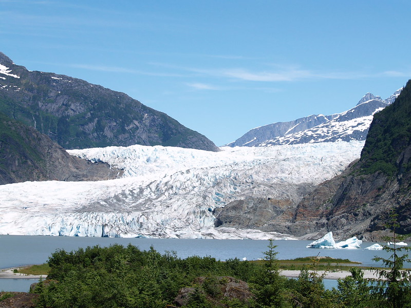 Mendenhall Glacier from the parking lot.