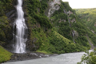 Bridal Veil Falls Falling into the Lowe River