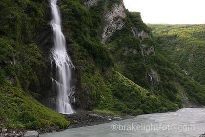 Bridal Veil Falls Falling into the Lowe River