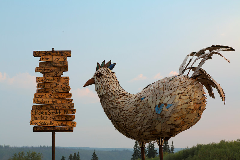 Sculpture, Chicken, Alaska
