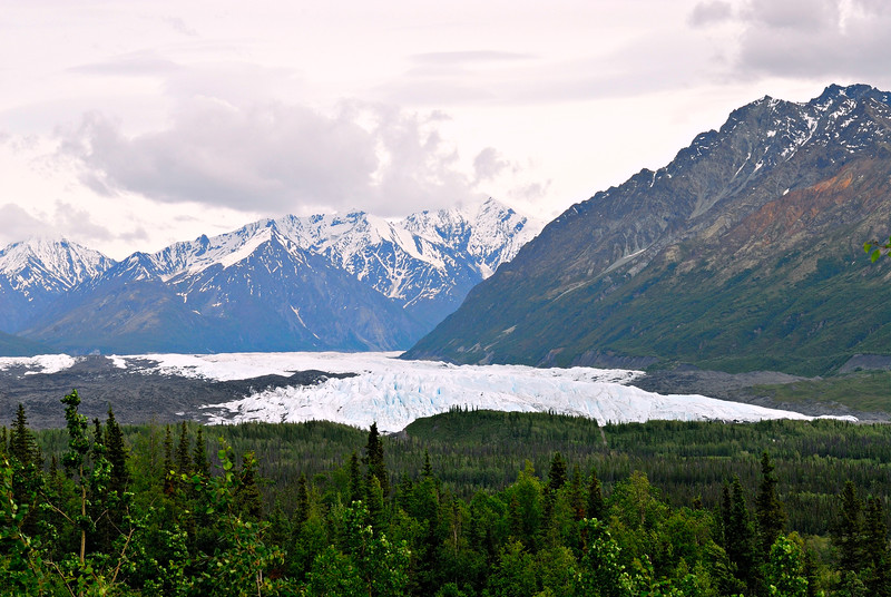Travelling north from Anchorage, we passed by the Matanuska Glacier.