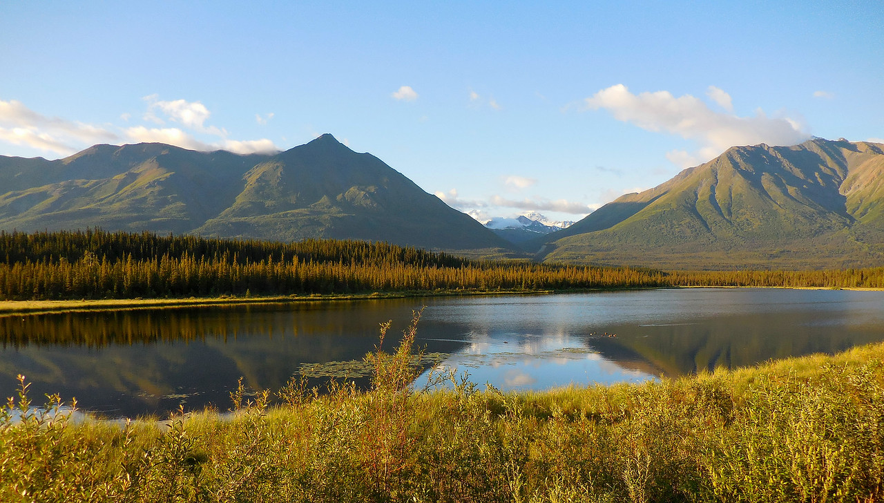 McCarthy Road. Wrangell/St.Elias National Park.