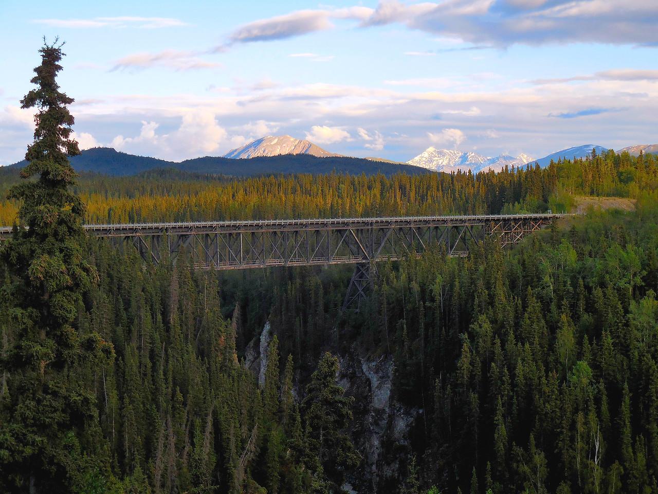 The old Kuskulana River railroad bridge between Chitina and McCarthy.