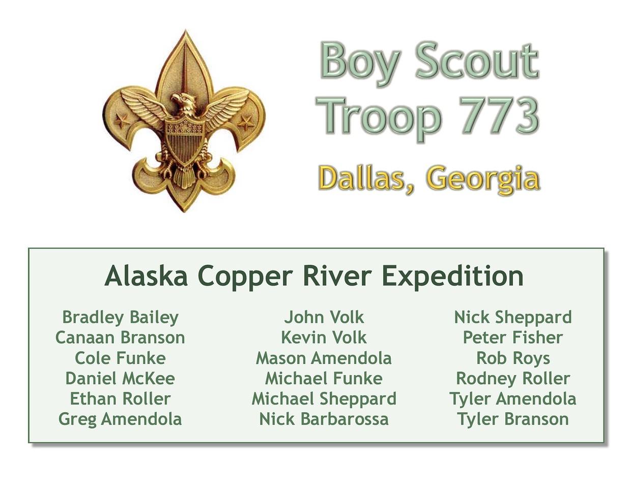 Title Slide 1 - Troop 773 Copper River
