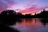 AKS00-210a Unalakleet River sunset