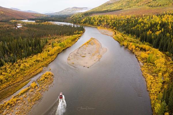 Aerial View of the Yukon-Koyukuk River