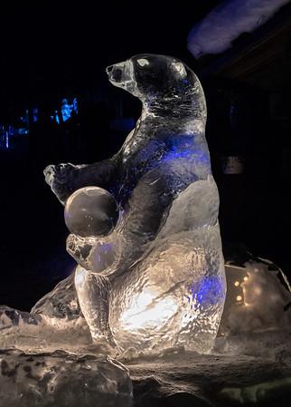 Ice polar bear