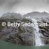 Fisheye View of Waterfall, Endicott Arm