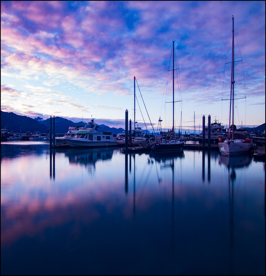 Boats in the harbor at Seward