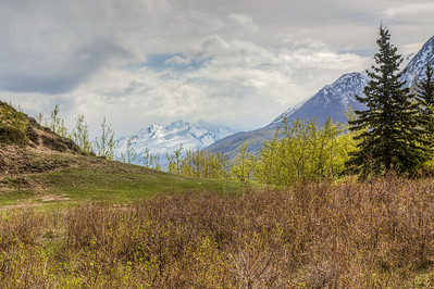 Chugach Mountains, seen from The Butte, Palmer, Alaska