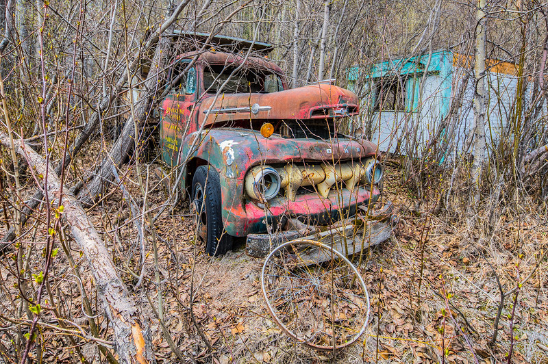 Abandoned Ford Truck in Chitina, Alaska