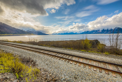 Along Glenn Highway, South of Anchorage, Alaska, USA