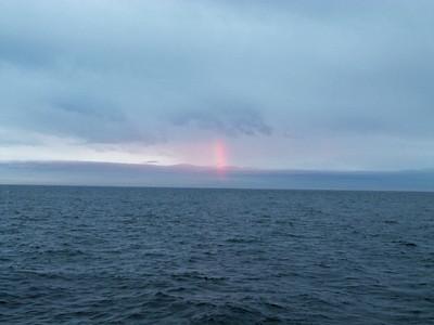 Strange vertical rainbow