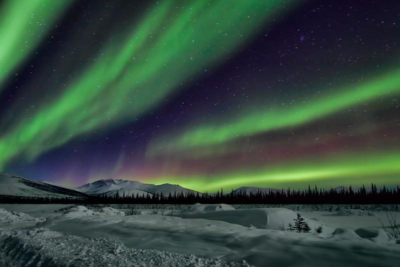 Brooks Range Colorful Aurora Clouds