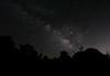 Milky Way over skull rock