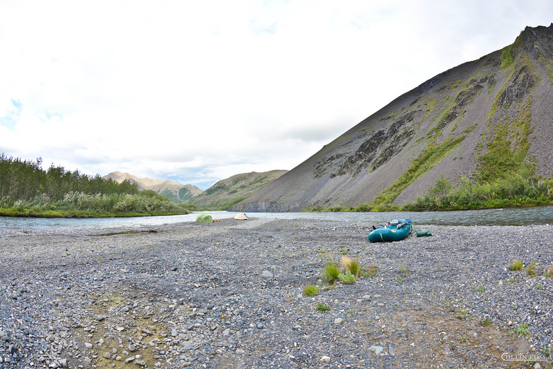 notice the tents at the end of the gravel bar.....................that is where we sent the folks who snore
