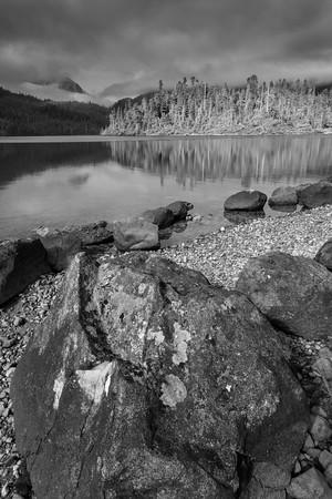 Baranof Lake Black and White