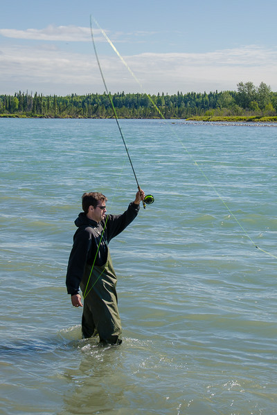 Photo Tour of Alaska: Fishing for salmon at Wolverine Creek