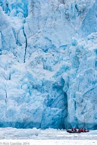 Up close to the glacier.