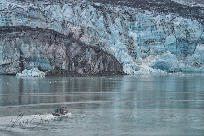 Small Boat Approaching Glacier