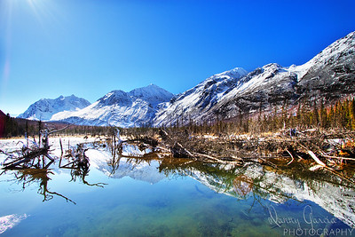 Mountain Reflection in River