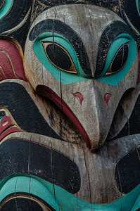 Tlingit Pole Detail - Sitka National Historical Park