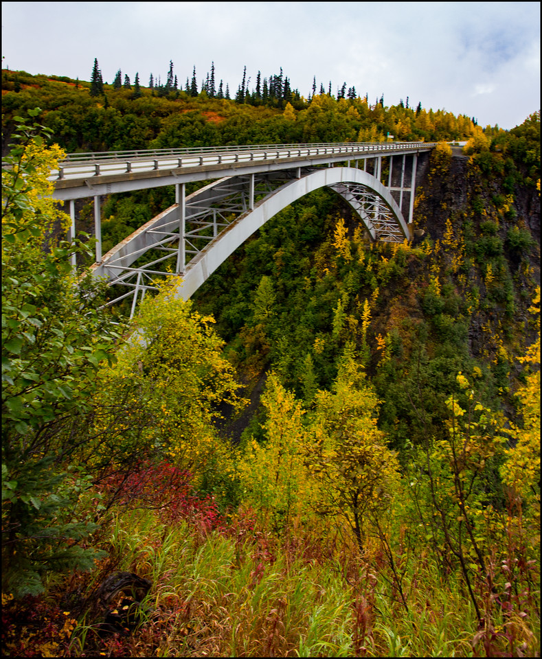 Bridge over Hurricane Gulch, Denali