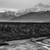 Denali in the distance B&W