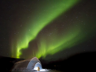 Aurora Ice Museum and Northern Lights in Fairbanks, Alaska