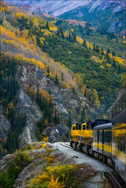 Alaska Railroad from Fairbanks to Anchorage
