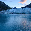 Marjerie Glacier at sunset