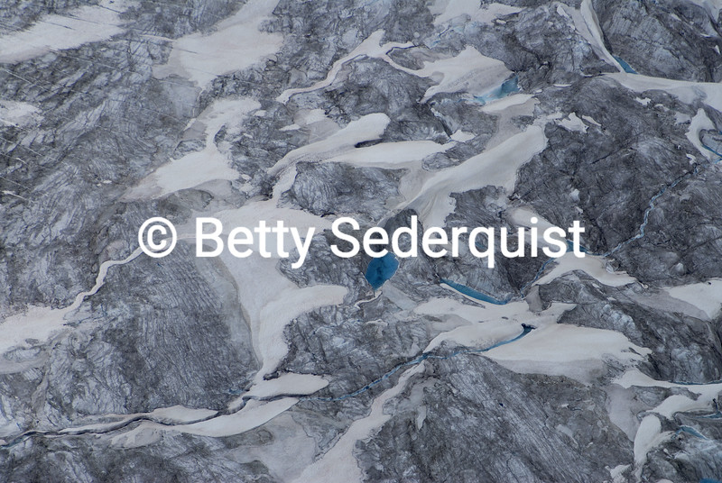 Kettle Ponds, Root Glacier, Wrangell St. Elias