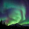 Swirls of northern lights in the Brooks Range