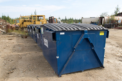 Dumpster with A-Frame and Side Pockets