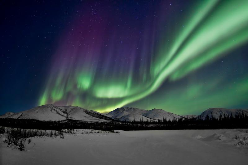 Dancing northern lights in the Brooks Range