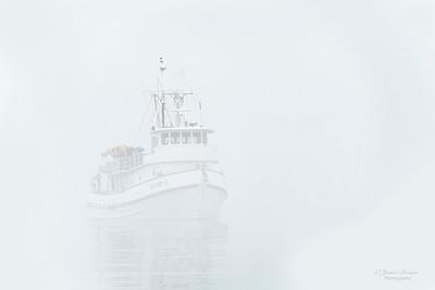 Fishing Boat in Fog