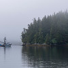 Fishing Boat in Mists, Warm Springs Bay