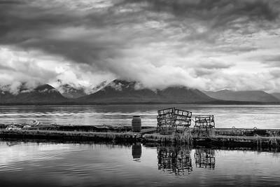 Crab Pots in Black and White, Tenakee Springs, Alaska