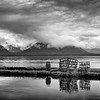 Crab Pots in Black and White, Tenakee Springs, Alaska