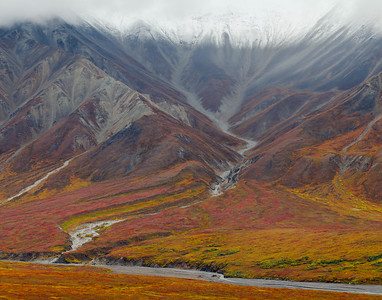 Alaska Range and Thorofare River, Denali National Park
