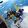 Tandem Exit over Alaska Skydive Center